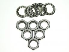 Brake Flexi Hose To Inner Wing Nuts & Washers  All Stainless Steel  x 6