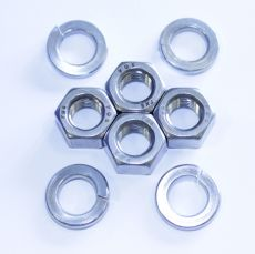 Mk1 Escort Carburettor Mounting Nuts & Spring Washers x 4 All Stainless Steel