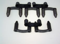 Mk1 Cortina Ford Logo Engine Bay Loom Clips (Black) x 8