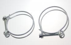 Mk1 and Mk2  Escort Fuel Filler Hose Clamps x 2