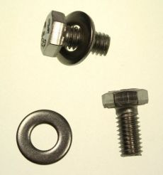 Mk2 Escort Bonnet Brace Securing Bolts & Washers Stainless Steel x 2