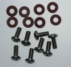 Mk2 Cortina Estate Rear Light Lens Screws (Stainless) & Fibre Washers x 8