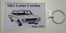 Mk2 Cortina Keyring With Lotus Cortina Design