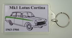Mk1 Cortina Keyring With Mk1 Lotus Cortina Design