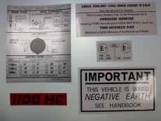 Mk1 Escort 1100, 1300 & 1600 Under Bonnet Decal Set