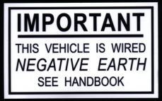 Negative Earth Decal